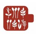 """Трафарет пластиковый Модуль Флора М9Фл-39 """"Цветы в саду"""" 9х9 см, Event Design"""