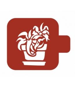 "Трафарет пластиковый Модуль Флора М9Фл-040 ""Алоэ"" 9х9 см, Event Design"