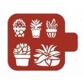 "Трафарет пластиковый Модуль Флора М9Фл-45 ""Кактусы"" 9х9 см, Event Design"