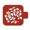 "Трафарет пластиковый Модуль Флора М9Фл-59 ""Гибикус"" 9х9 см, Event Design"