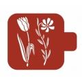 """Трафарет пластиковый Модуль Флора М9Фл-63 """"Тюльпан и ромашка"""" 9х9 см, Event Design"""