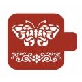 "Трафарет пластиковый Модуль Фауна М9Фн-05 ""Бабочка и орнамент"" 9х9 см, Event Design"