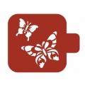 "Трафарет пластиковый Модуль Фауна М9Фн-10 ""Две бабочки"" 9х9 см, Event Design"