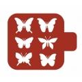 "Трафарет пластиковый Модуль Фауна М9Фн-11 ""Бабочки"" 9х9 см, Event Design"