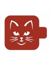 "Трафарет пластиковый Модуль Фауна М9Фн-87 ""Кошка"" 9х9 см, Event Design"