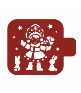 """Трафарет пластиковый Модуль Новый год М9Нг-116 """"Снегурочка"""" 9х9 см, Event Design"""