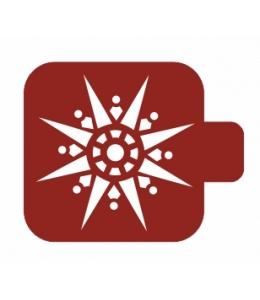 """Трафарет пластиковый Модуль Новый год М9Нг-122 """"Остроконечная снежинка"""" 9х9 см, Event Design"""