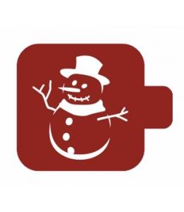 """Трафарет пластиковый Модуль Новый год М9Нг-125 """"Снеговик в шляпе"""" 9х9 см, Event Design"""