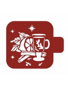 """Трафарет пластиковый Модуль Новый год М9Нг-130 """"Глинтвейн"""" 9х9 см, Event Design"""
