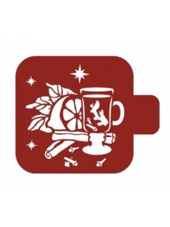 """Трафарет для росписи Модуль Новый год """"Глинтвейн"""", 9х9 см, Event Design"""