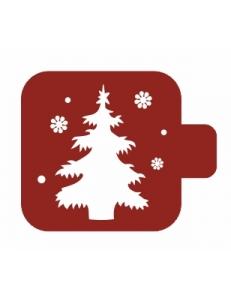 """Трафарет пластиковый Модуль Новый год М9Нг-135 """"Ёлка и снег"""" 9х9 см, Event Design"""
