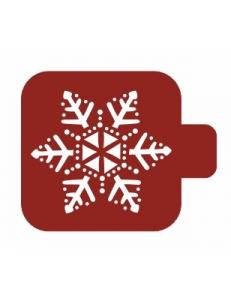 """Трафарет пластиковый Модуль Новый год М9Нг-137 """"Пушистая снежинка"""" 9х9 см, Event Design"""