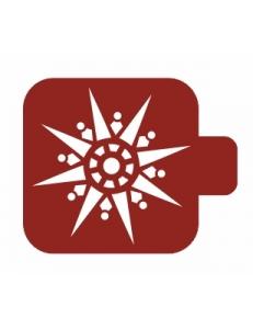 """Трафарет пластиковый Модуль Новый год М9Нг-154 """"Лучистая снежинка"""" 9х9 см, Event Design"""
