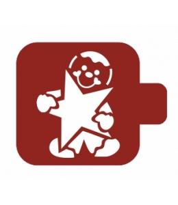 """Трафарет пластиковый Модуль Новый год М9Нг-17 """"Пряничный человечек"""" 9х9 см, Event Design"""