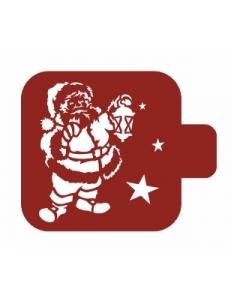"Трафарет пластиковый Модуль Новый год М9Нг-172 ""Санта Клаус"" 9х9 см, Event Design"
