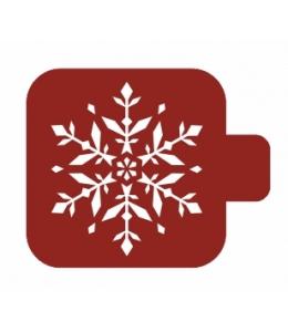 """Трафарет пластиковый Модуль Новый год М9Нг-180 """"Красивая снежинка"""" 9х9 см, Event Design"""