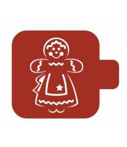 """Трафарет пластиковый Модуль Новый год М9Нг-184 """"Пряничная девочка"""" 9х9 см, Event Design"""