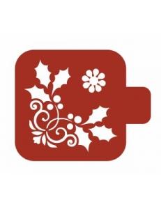 """Трафарет пластиковый Модуль Новый год М9Нг-185 """"Орнамент"""" 9х9 см, Event Design"""
