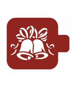 """Трафарет пластиковый Модуль Новый год М9Нг-35 """"Колокольчики"""" 9х9 см, Event Design"""