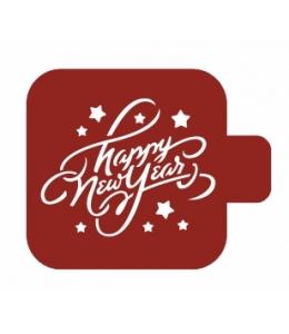 "Трафарет пластиковый Модуль Новый год М9Нг-39 ""Happy New Year"" 9х9 см, Event Design"