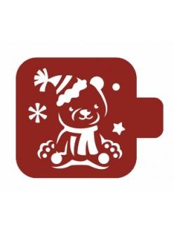 """Трафарет для росписи Модуль Новый год """"Медвежонок"""", 9х9 см, Event Design"""