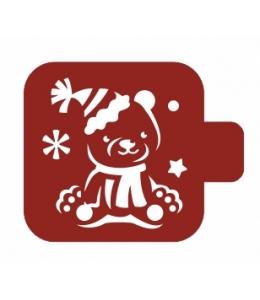 """Трафарет пластиковый Модуль Новый год М9Нг-43 """"Медвежонок"""" 9х9 см, Event Design"""