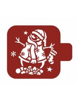 """Трафарет для росписи Модуль Новый год """"Снеговик"""", 9х9 см, Event Design"""