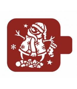 """Трафарет пластиковый Модуль Новый год М9Нг-47 """"Снеговик"""" 9х9 см, Event Design"""