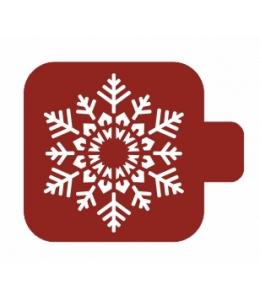 """Трафарет пластиковый Модуль Новый год М9Нг-75 """"Резная снежинка"""" 9х9 см, Event Design"""