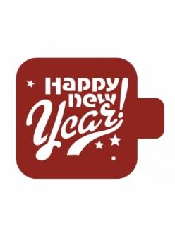 """Трафарет для росписи Модуль Новый год """"Счастливого нового года"""", 9х9 см, Event Design"""