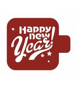 """Трафарет пластиковый Модуль Новый год М9Нг-78 """"Счастливого нового года"""" 9х9 см, Event Design"""