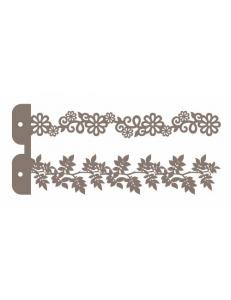 """Трафарет маска ассорти НМС-04 """"Листочки и цветочки"""" 10х23 см, Event Design"""