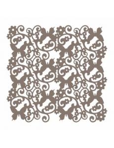 """Трафарет маска ассорти НМС-36 """"Завитки и бабочки"""" 15х15 см, Event Design"""