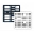 "Трафарет пластиковый ""Фон фактура ФФМ-019 Решетка"" 15х15 см, Event Design"