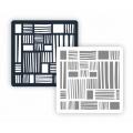 "Трафарет пластиковый ""Фон фактура ФФМ-027 Орнамент"" 15х15 см, Event Design"