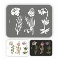 Трафарет пластиковый Цветущий сад, серия Флора Винтаж, 21х32 см, Event Design