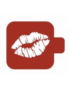 "Трафарет пластиковый Модуль Аморе М9Ам-27 ""Поцелуй"" 9х9 см, Event Design"