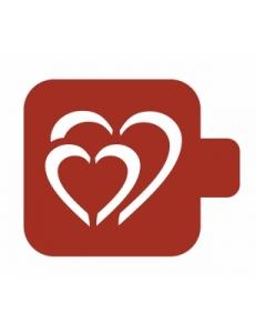 "Трафарет пластиковый Модуль Аморе М9Ам-31 ""Два сердца"" 9х9 см, Event Design"