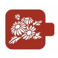 "Трафарет пластиковый Модуль Флора М9Фл-108 ""Ромашки"" 9х9 см, Event Design"