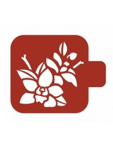"""Трафарет пластиковый Модуль Флора М9Фл-110 """"Дикие орхидеи"""" 9х9 см, Event Design"""