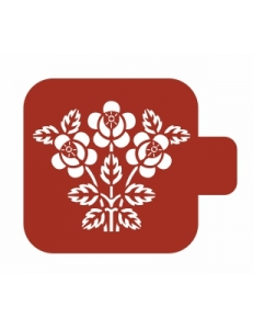 "Трафарет пластиковый Модуль Флора М9Фл-120 ""Лесные цветы"" 9х9 см, Event Design"