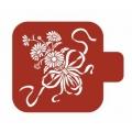 """Трафарет пластиковый Модуль Флора М9Фл-123 """"Маргаритки"""" 9х9 см, Event Design"""