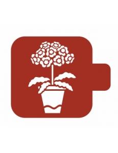 "Трафарет пластиковый Модуль Флора М9Фл-128 ""Примулы"" 9х9 см, Event Design"