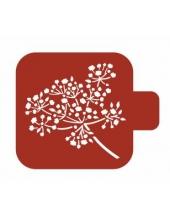 """Трафарет пластиковый Модуль Флора М9Фл-137 """"Зонтичное растение"""" 9х9 см, Event Design"""