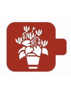 "Трафарет пластиковый Модуль Флора М9Фл-140 ""Цикламен"" 9х9 см, Event Design"