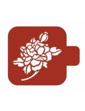 "Трафарет пластиковый Модуль Флора М9Фл-28 ""Пион"" 9х9 см, Event Design"