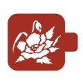 "Трафарет пластиковый Модуль Флора  М9Фл-34 ""Маки"" 9х9 см, Event Design"
