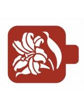 """Трафарет пластиковый Модуль Флора М9Фл-49 """"Лилейник"""" 9х9 см, Event Design"""