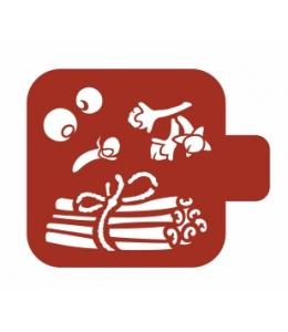 """Трафарет пластиковый Модуль Кухня М9Кх-08 """"Корица и гвоздика"""" 9х9 см, Event Design"""