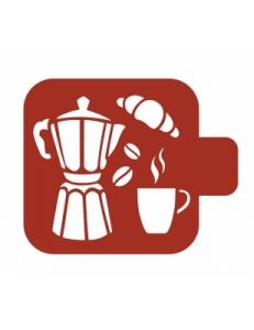 """Трафарет пластиковый Модуль Кухня М9Кх-10 """"Утренний кофе"""" 9х9 см, Event Design"""